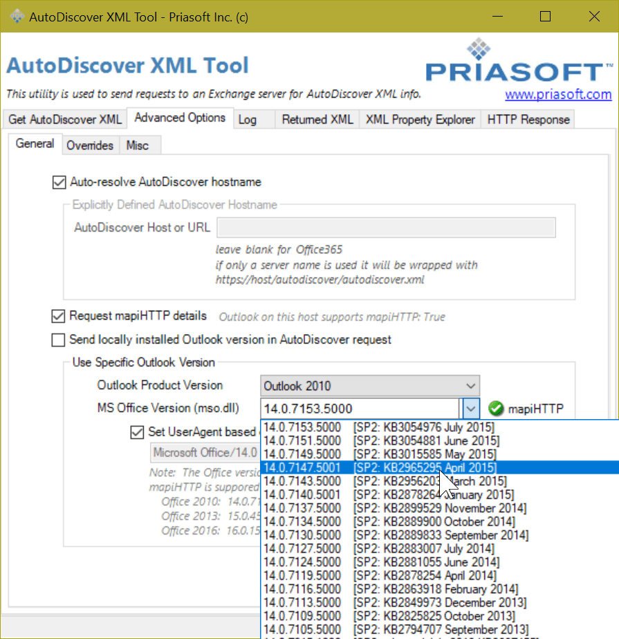 Free utility - AutoDiscover Test Tool